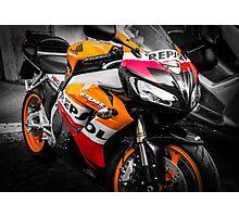 Honda Motorcycle Colorsplash Photographic Print
