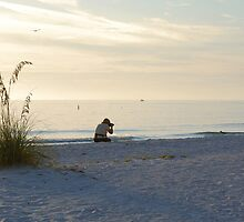 Photographer on Upham Beach by Ben Waggoner