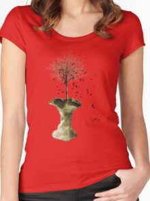 Forbidden Fruit Core - Tree-Shirt Women's Fitted Scoop T-Shirt