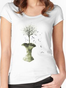 Forbidden Fruit Core - Tree-Shirt Women's Fitted Scoop T-Shirt