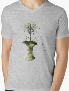 Forbidden Fruit Core - Tree-Shirt Mens V-Neck T-Shirt