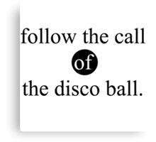the disco ball Canvas Print