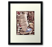 Alice At The Tea Party Framed Print