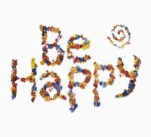 Flower Power- Be Happy One Piece - Long Sleeve