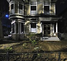 """Moonlight & Alameda Victorian"" shhh! They're still sleeping. by Richard  Leon"