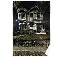 """""""Moonlight & Alameda Victorian"""" shhh! They're still sleeping. Poster"""