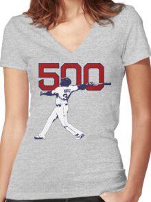 500 - David Ortiz Women's Fitted V-Neck T-Shirt