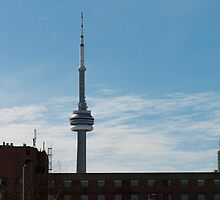 CN Tower From The Distillery District by Gary Chapple