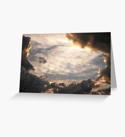 Stormy Nebraska Sky Greeting Card