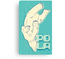 Pola with textured background Canvas Print