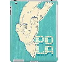 Pola with textured background iPad Case/Skin