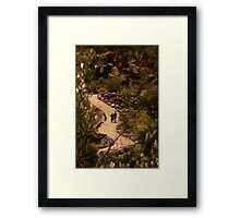 Its a long and winding road Framed Print