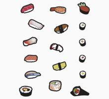 Sushi Sticker Set by thickblackoutline
