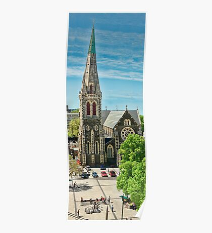 Christchurch Cathedral Spire Poster