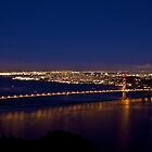 Golden Gate Bridge By Night by Svetlana Day