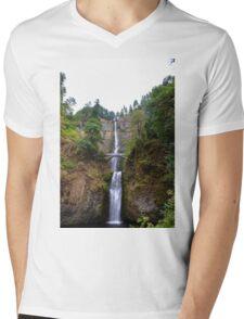 Oregon - Multnomah Falls Mens V-Neck T-Shirt