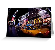 Moment in Times Square Greeting Card
