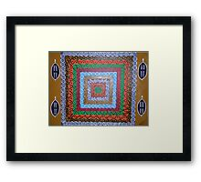 African Psychadelica- Abstract painting Framed Print