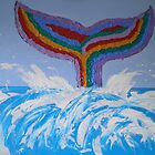 Rainbow Whale Tail by kreativekate