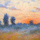 Foggy summer night by Julia Lesnichy