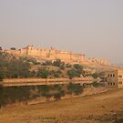 Amber Fort, Amber - from Maotha Lake by Christopher Cullen