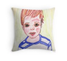 I'm a real boy- watercolor portrait Throw Pillow