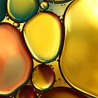 Oil &amp; Water Abstract II by Sharon Johnstone