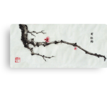Winter plum flowers Canvas Print