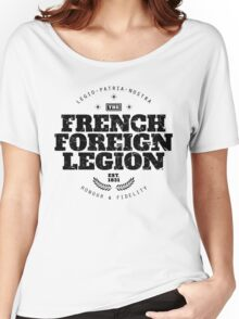 French Foreign Legion - Honour and Fidelity black Women's Relaxed Fit T-Shirt
