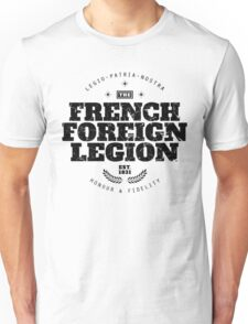 French Foreign Legion - Honour and Fidelity black Unisex T-Shirt
