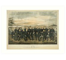 Lee and his General (Civil War portrait created in 1904) Art Print