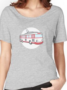 Friendly retro trolleybus Salvador Women's Relaxed Fit T-Shirt
