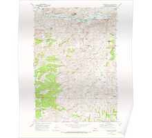 USGS Topo Map Oregon Painted Hills 281029 1968 24000 Poster