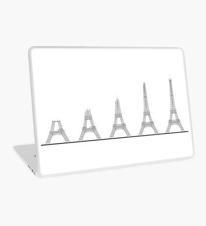 Eiffel Tower Construction Sequence Illustration Laptop Skin