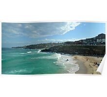 Tamarama beach touched by clouds Poster