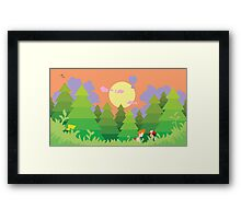 The World is Open to Explore Framed Print