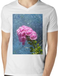 Foxglove with texture reaching for the sky. Mens V-Neck T-Shirt