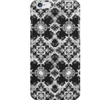 Black and White Decorative Damask Pattern iPhone Case/Skin