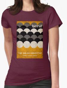 Beirut World Tour Poster Womens Fitted T-Shirt