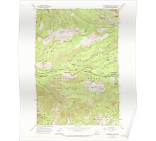 USGS Topo Map Oregon Government Camp 280055 1962 24000 Poster