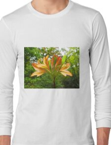 Rhododendron flower bloom with texture. Long Sleeve T-Shirt