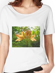 Rhododendron flower bloom with texture. Women's Relaxed Fit T-Shirt