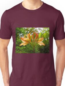 Rhododendron flower bloom with texture. Unisex T-Shirt