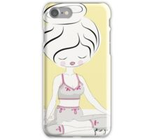 Yoga Lover in Yellow iPhone Case/Skin