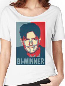 "Charlie Sheen ""Bi-Winner"" Obama Style Shirt Women's Relaxed Fit T-Shirt"