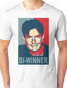 "Charlie Sheen ""Bi-Winner"" Obama Style Shirt Unisex T-Shirt"