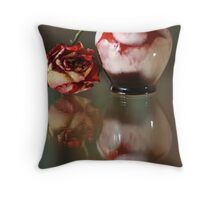 The Little Red Jar and The Red Rose Throw Pillow