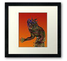 Pen Work Monster [natural colour] Framed Print