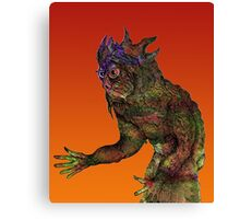 Pen Work Monster [natural colour] Canvas Print