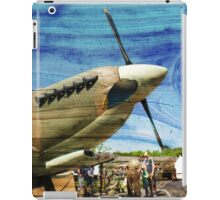 Spitfire Mk 1A aircraft on wood texture iPad Case/Skin